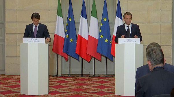 الرئيس الفرنسي ورئيس الوزراء الإيطالي