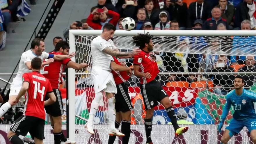 Giménez da el triunfo a Uruguay ante Egipto en el Mundial
