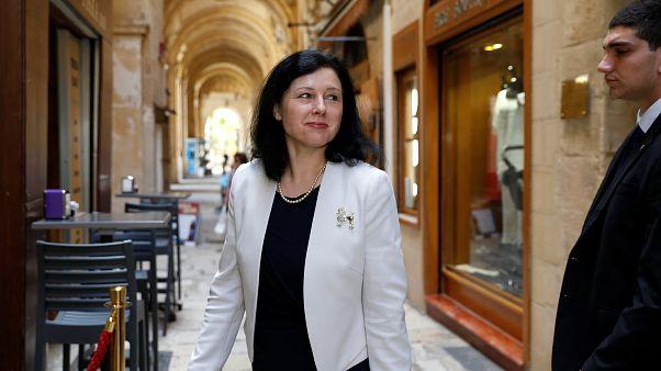 La Commissaire européenne à la Justice Vera Jourova