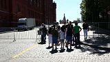 Descontento por no poder visitar la Plaza Roja de Moscú