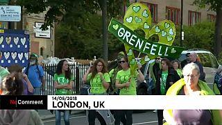 Multitudinaria marcha en Londres en el aniversario de la tragedia de la Torre Grenfell