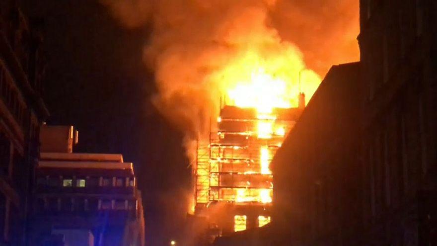 Пожар в центре Глазго