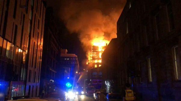 Glasgow, la scuola d'arte va a fuoco per la seconda volta in 4 anni