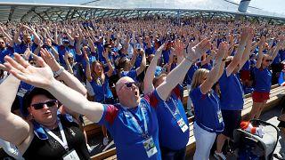 Leçon de clapping islandais à Moscou