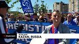 Francia e Australia: i tifosi sfilano in corteo alla Kazan Arena