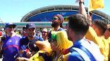 Adeptos australianos e franceses animam cidade de Kazan