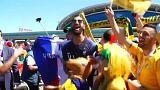 Vom anderen Ende der Welt: Fußballfans begegnen sich in Russland