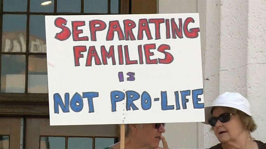 Protest gegen die Trennung von Kindern illegaler Einwanderer