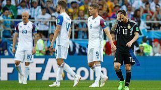 Argentína nem bírt Izlanddal