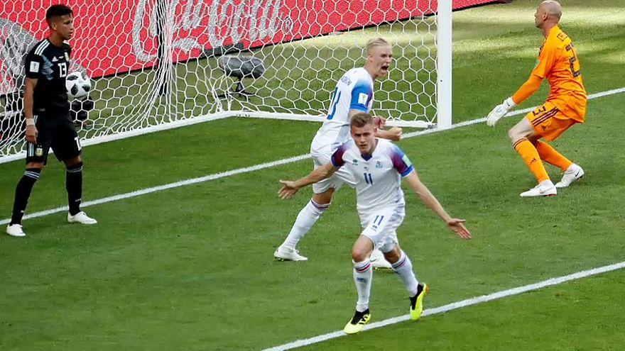 Alfred Finnbogason erzielte den Ausgleich der Isländer gegen Argentinien.