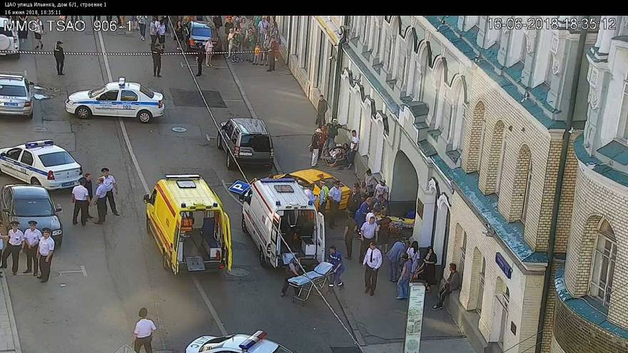 Ocho personas heridas tras ser atropelladas por un taxi en Moscú