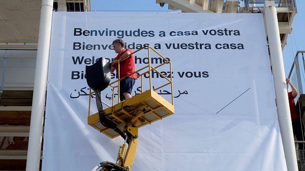 """Ankunft der """"Aquarius"""": Gemischte Gefühle in Valencia"""