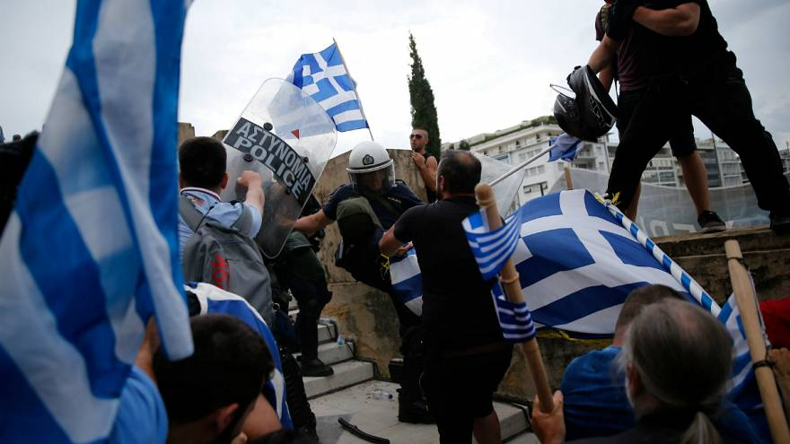 Tüntetés Athénban