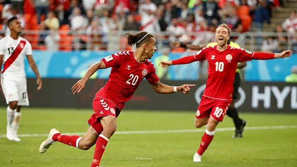 Yussuf Poulsen erzielte den Siegtreffer der Dänen gegen Peru.