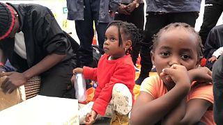 """Kinder an Bord des Rettungsschiffs """"Aquarius"""""""