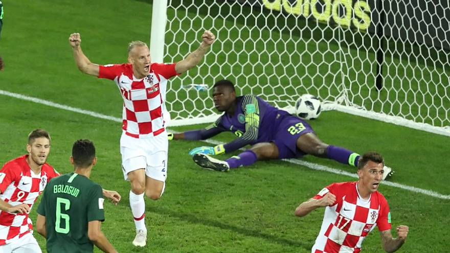 Freude bei Kroatien nach dem 1:0.