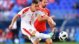 World Cup 2018 live: Serbia and Costa Rica all-square at the break