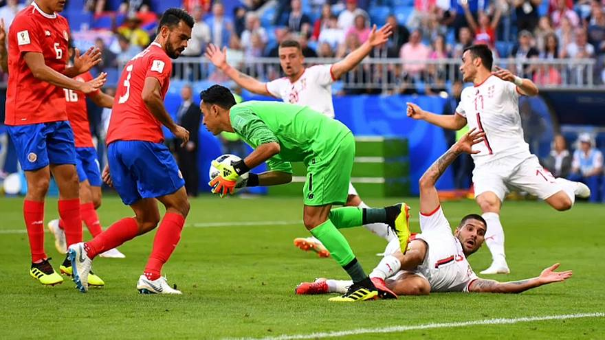 Cruel derrota de Costa Rica ante Serbia (0-1)