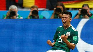 La gioia di Lozano, autore del gol-vittoria del Messico.
