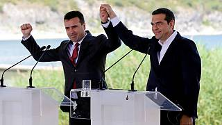 Greek PM Tsipras and Macedonian PM Zaev