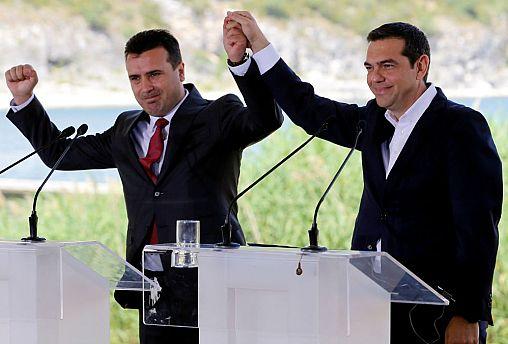 Greek PM Tsipras and Macedonian PM Zaev