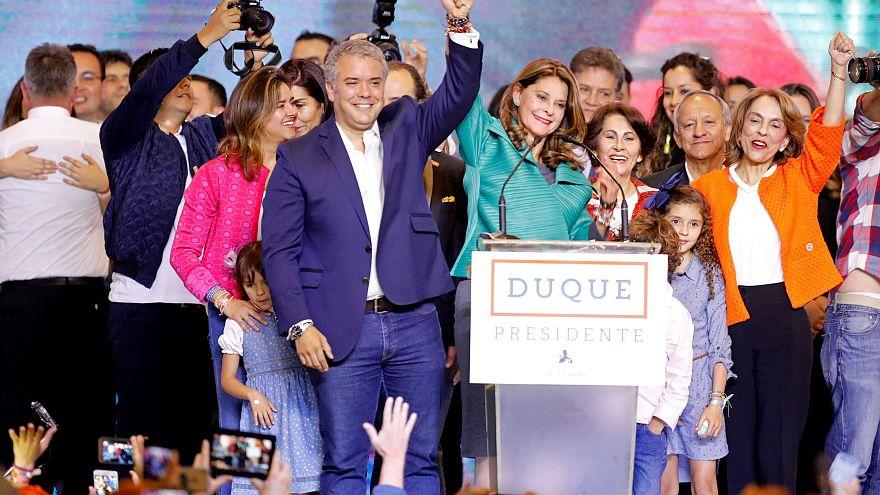 Iván Duque y la vicepresidenta electa, Marta Lucía Ramírez