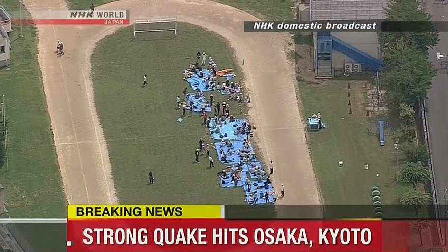 Forte terremoto colpisce la regione di Osaka