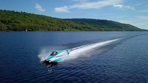 Watch: Jaguar's battery-powered boat breaks speed records