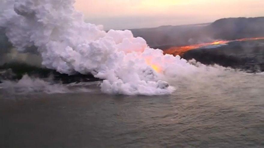 Lavaströme am Kilauea