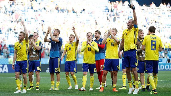 پیروزی سوئد مقابل کره جنوبی