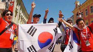 جام جهانی روسیه؛ شادی هواداران سوئد و کره جنوبی پیش از آغاز بازی
