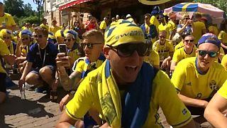 Mondiali, la festa dei tifosi svedesi