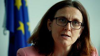 EU commmissioner Cecilia Malmström is in Australia for trade talks