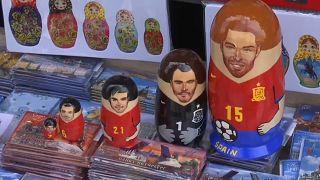 Estrellas del fútbol convertidas en 'matrioshkas'