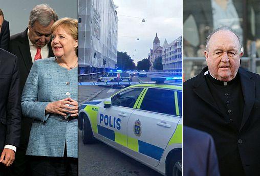 Live updates: Merkel meets Macron, archbishop sentenced and Sweden shooting