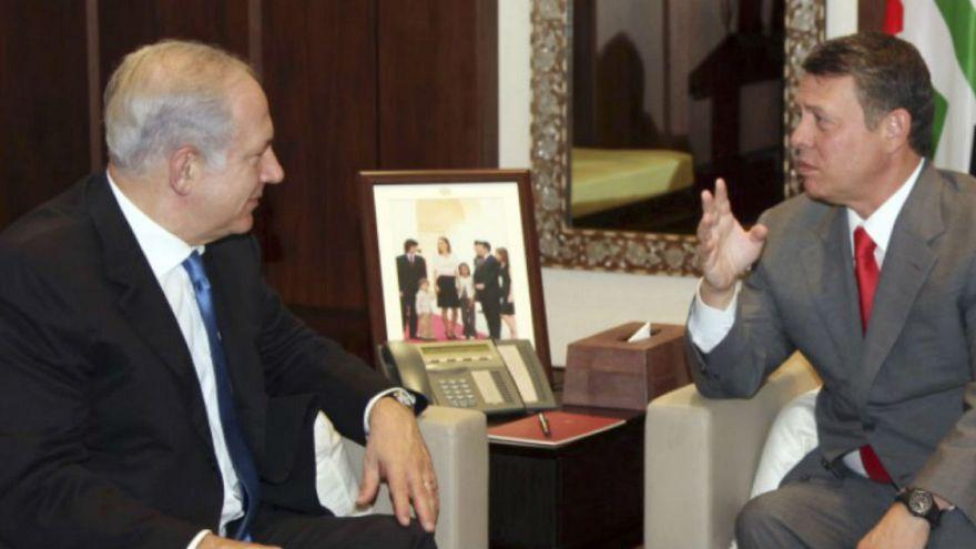 نتانیاهو با پادشاه اردن دیدار کرد