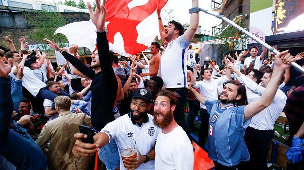 La liesse des supporters anglais à Volgograd