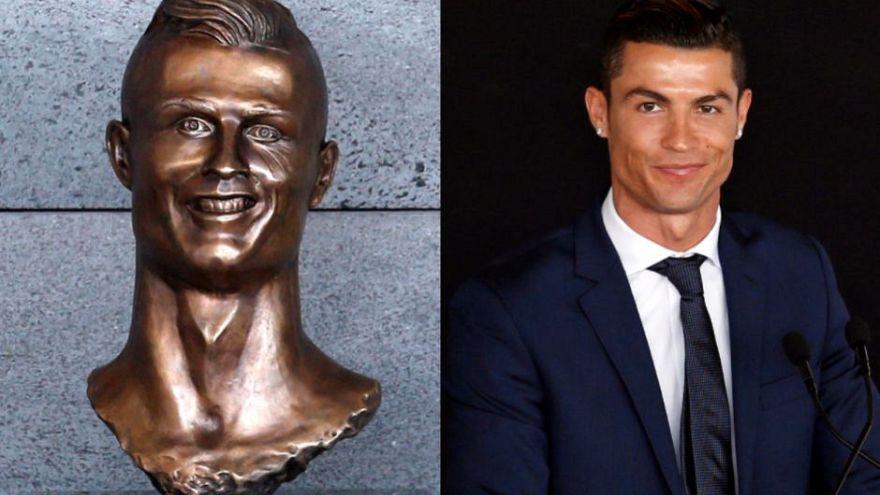 Ronaldo'nun eskisinin yerine yapılan büstü de beğenilmedi, halk eski büstü geri istedi