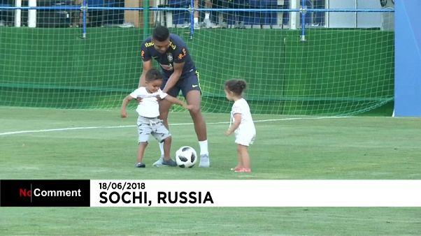 Les enfants de joueurs brésiliens à Sotchi