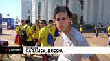 Adeptos da Colômbia e Japão em festa antes da estreia no Mundial