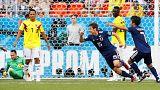 Osako celebra o golo da vitória nipónica
