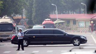 Kim Dzsongun a kínai elnöknél