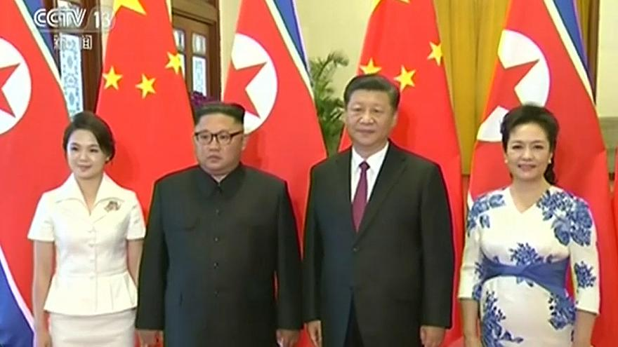 Ким Чен Ын в гостях у Си Цзиньпина