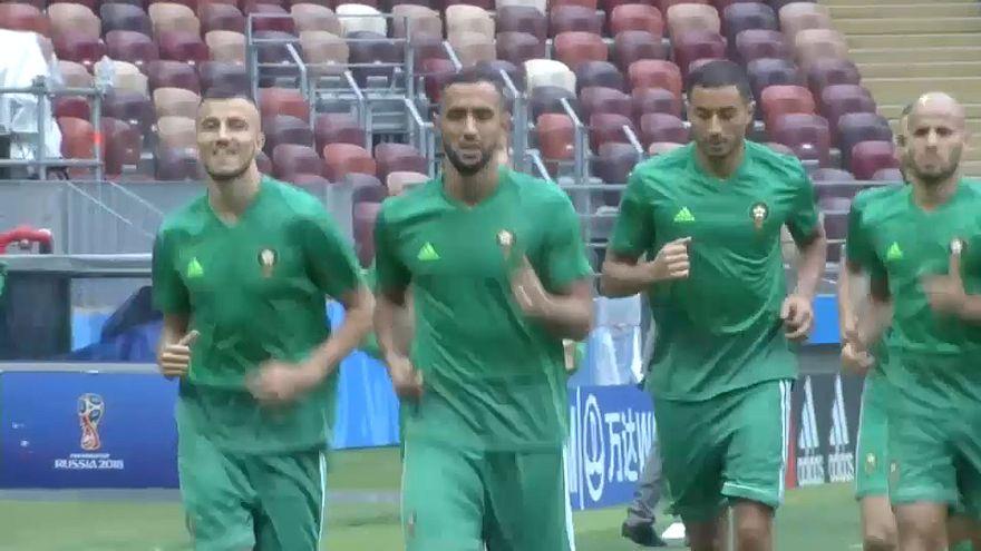 من تدريبات المنتخب المغربي