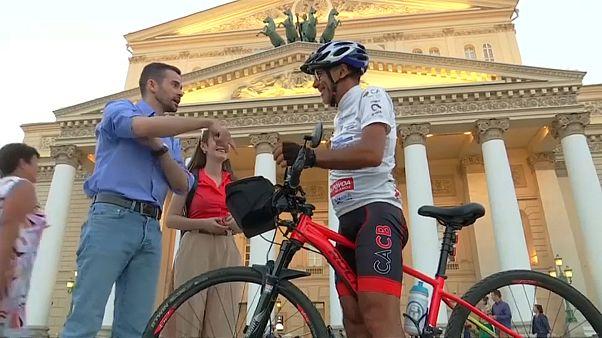 Ехали в Россию на велосипеде