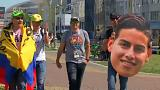 شادی طرفداران دو تیم ژاپن و کلمبیا