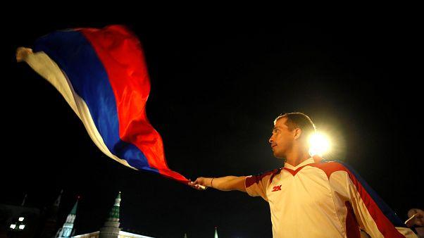 Μουντιάλ 2018: Οι Ρώσοι πανηγύρισαν τη νίκη της ομάδας τους