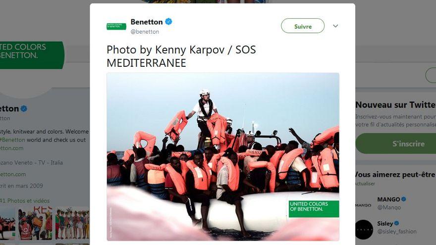 Benetton desata la polémica con una campaña con fotos del Aquarius