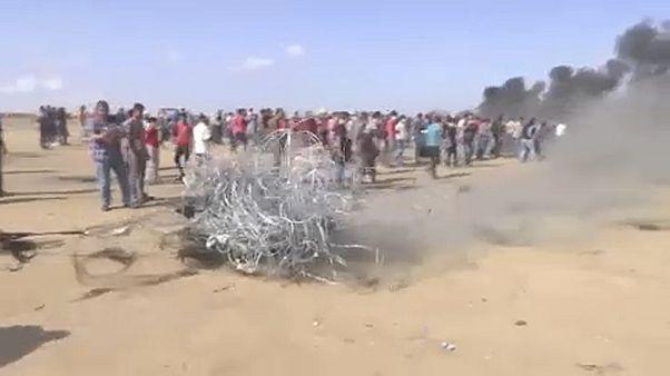 Újra egymás területeit lőtték palesztinok és izraeliek