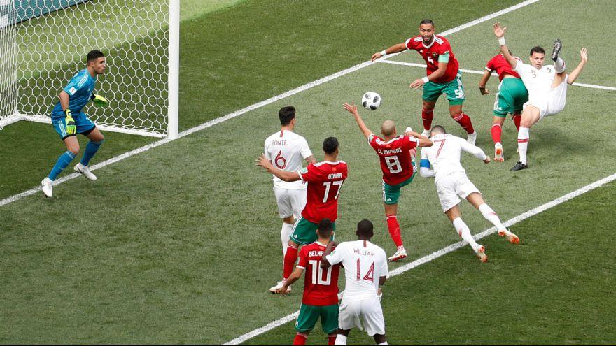 Cristiano Ronbaldo abriu o marcador aos 04 minutos em Moscovo